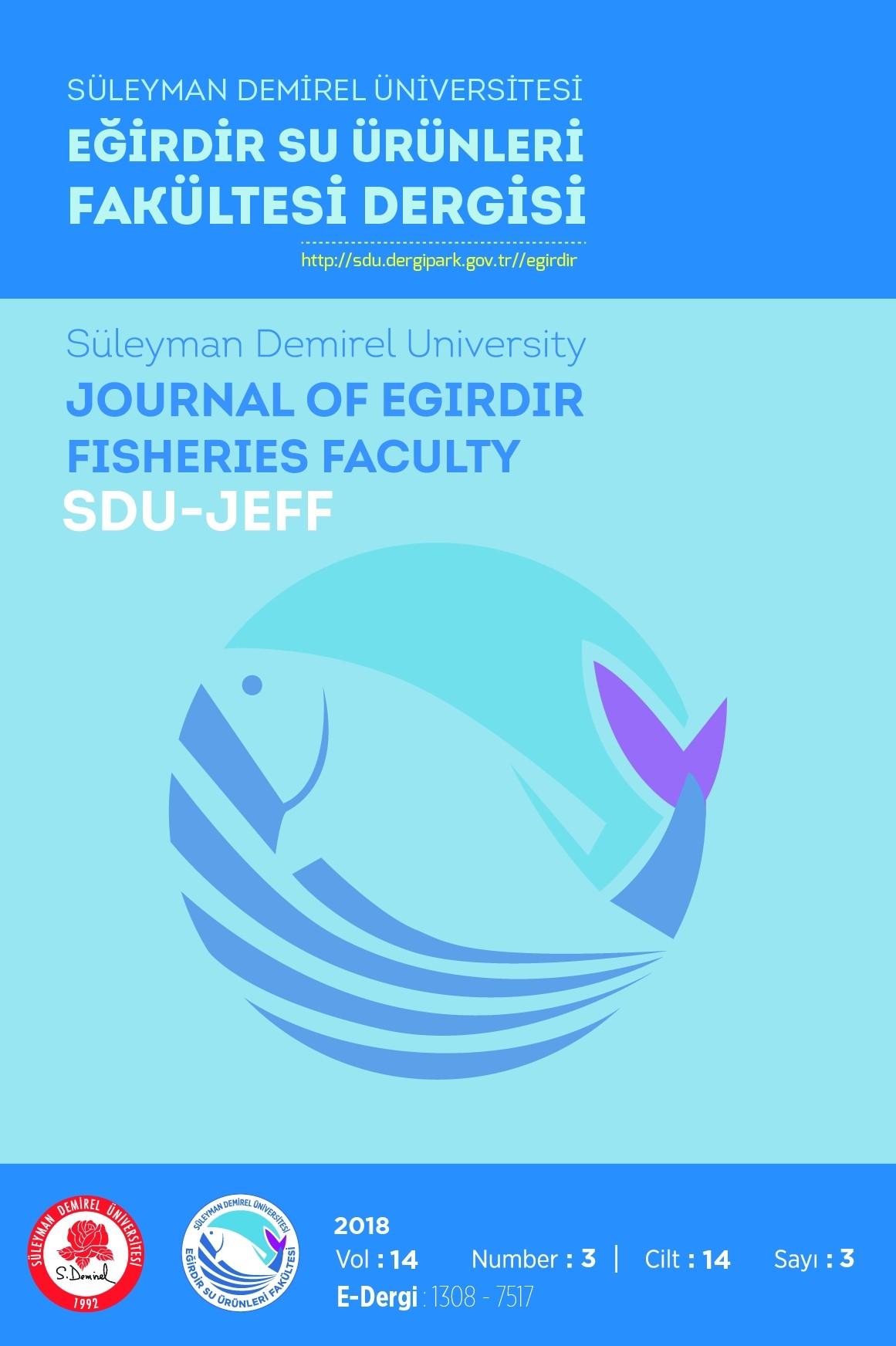 Süleyman Demirel University Journal of Eğirdir Fisheries Faculty (SDU-JEFF)