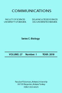 Communications Faculty of Sciences University of Ankara Series C  Biology