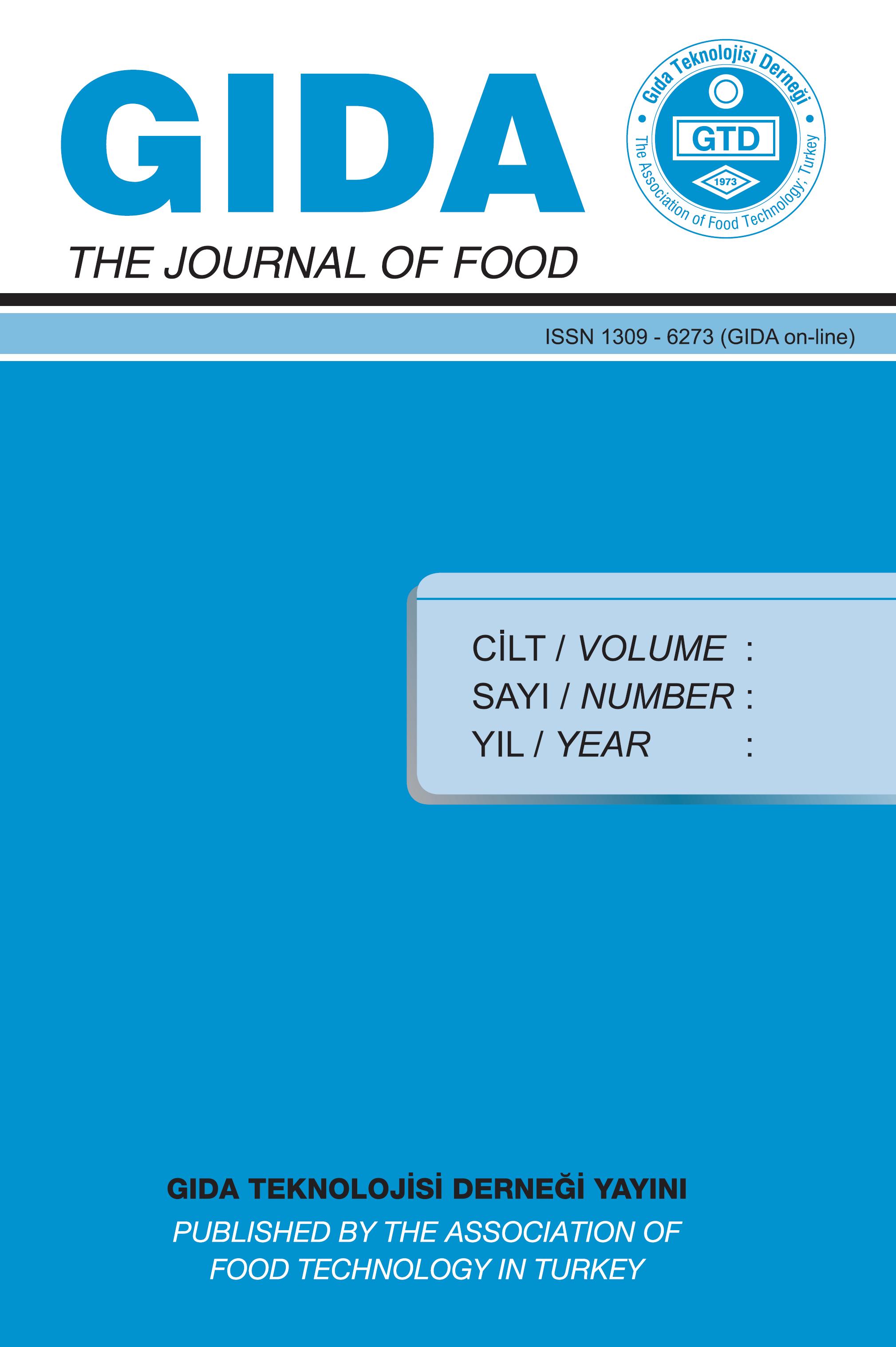 GIDA / THE JOURNAL OF FOOD