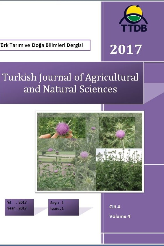 Türk Tarım ve Doğa Bilimleri Dergisi-Turkish Journal of Agricultural and Natural Sciences